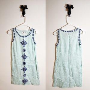 Vineyard Vines Blue Embroidered Shift Dress